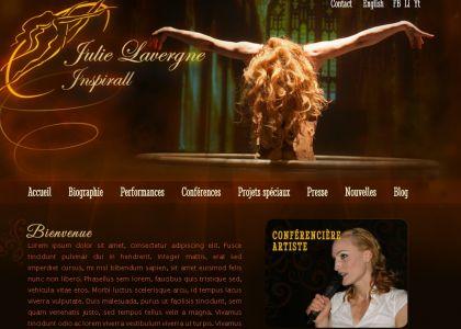 Maquette du site julielavergne.com
